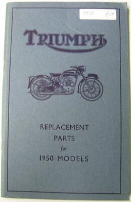 TRIUMPH 1950 Models Thunderbird Tiger 3T + #10M550 Motorcycle Owners Parts List