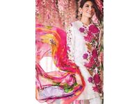 New Sana Safinaz Inspired 3pcs Stitched Suit with Digital Printed Silk Dupatta in L,XL Sizes