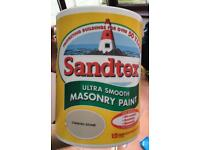 Sandtex masonry paint x2 5L - NEW