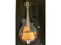 Savannah SF-100 F-Style Sunburst Mandolin with Case, full warranty ,as new