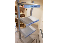 metal shelves, shelf unit, very strong