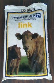 100 Plastic Animal Feed Bags (25kg) ideal for Firewood etc