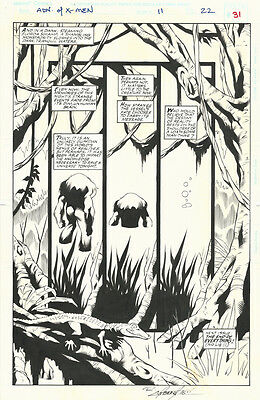 Yancey Labat Adventures of the X-Men #11 Original Art Page Man Thing LAST PAGE