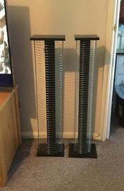 DVD and CD racks - perfect condition. Black and silver twin pack - cash & collection only