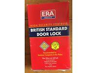 """ERA Fortress 362-51 BS 5 Lever Deadlock 76mm (3"""") Satin Chrome Mortice Door Lock"""