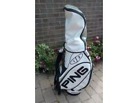 Ping Clubs and Cart Bag