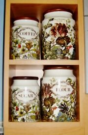 2 Pairs of 'DUNOON POTTERY' EARTHENWARE STORAGE JARS