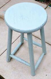 Shabby chic wooden stool