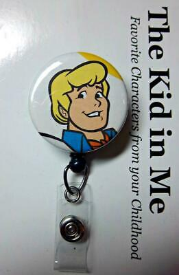 FRED JONES from Scooby Doo   Retractable Reel ID Badge Holder YOU PICK REEL](Fred From Scooby Doo)