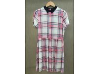 River island checked dress with collar