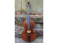 Antique Old German Mittenwald Double Bass - 1922 Frd Hänsel - Flatback