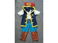 Disney Pirate Jake dress up costume age 3-4