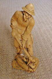 Wood Effect Figurine / Sculpture / ornament of an Austrian Woodcutter Brought From Austria
