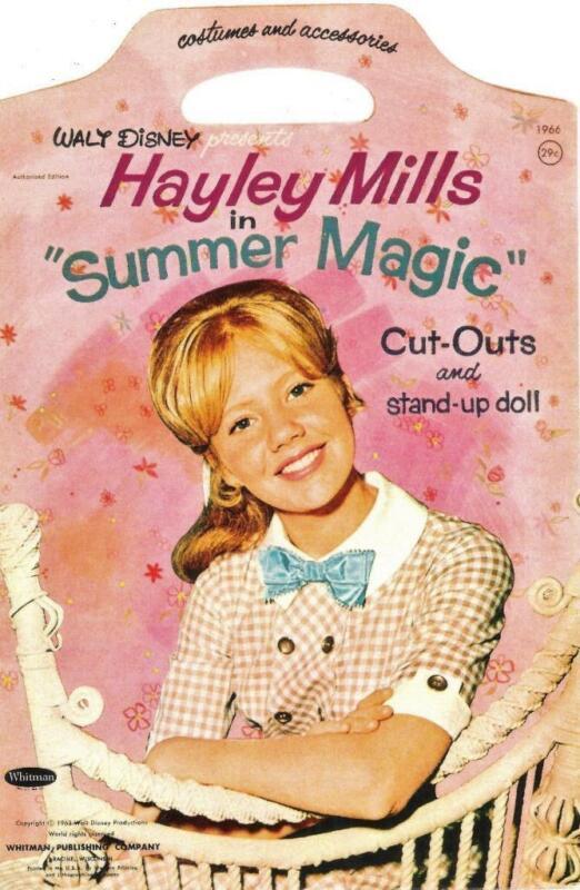 VINTAGE UNCUT 1963 HAYLEY MILLS SUMMER MAGIC PAPER DOLLS~#1 REPRODUCTION~SCARCE!