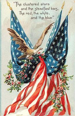 MEMORIAL DAY DECORATION DAY PATRIOTIC TUCK EMBOSSED POSTCARD (c. 1908)