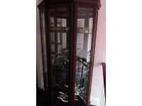 Glass Display Cabinet with Internal Illumination
