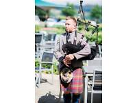 Professional piper available for hire