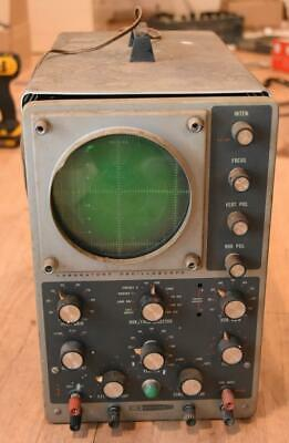 Vintage Heathkit Model 10-12 Oscilloscope With Tubes Tested Powers On
