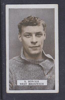 B.A.T. - Famous Footballers Set 1 1923 - # 20 S Bowser - West Bromwich Albion