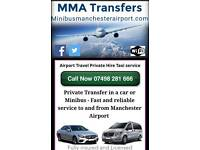 Airport taxi and minibus transfers