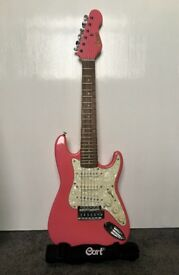 Encore 3/4 Electric Guitar - Gloss Pink
