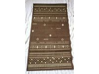 Cottage 150 L X 80 W cm Sisal Look Chocolate Brown Indoor Runner Mat Extra High Density Extra Strong