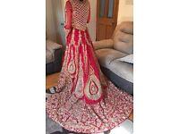 Asian pakistani indian bridal wedding dress