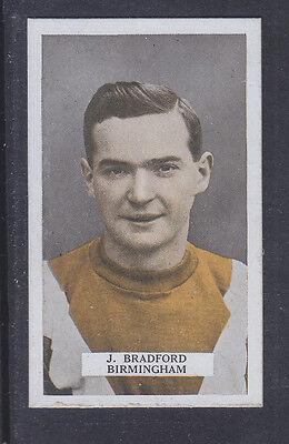 B.A.T. - Famous Footballers Set 1 1923 - # 33 Joseph Bradford - Birmingham