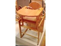 East Coast Wooden Combination High Chair- John Lewis