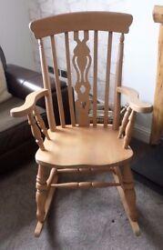 Fiddleback rocking chair