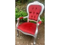 French Louis throne chair/bedroom chair