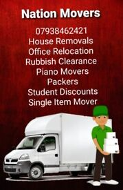 Urgent 24/7 Man and van hire house office student removals rubbish furniture piano delivery