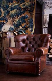 RALPH LAURENT LEATHER CHAIR