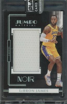 2019 Panini Noir Jumbo Material LeBron James 49/98 Jersey Lakers