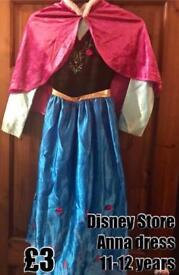 Disney Store Anna Dress 11-12 years.