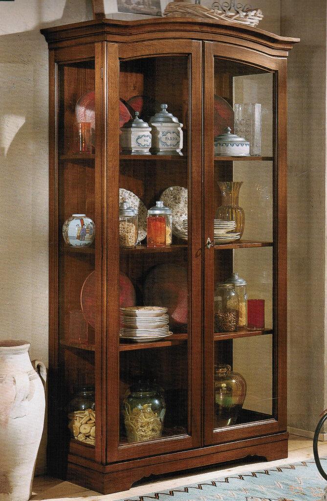 Vetrina cristalliera dispensa arte povera per cucina o soggiorno invari colori - Vetrina per cucina ...