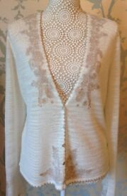 Women's Clothing Paisley Embroidered Cardigan from Next Size 16 BNWT