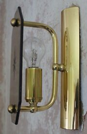Three Brass Wall Lights
