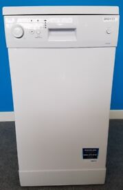 Beko Slimline Dishwasher 1043W/FS20426 ,6 months warranty, delivery available in Devon/Cornwall