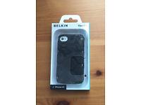 Belkin Max 008 Case for iPhone 4/4S - Black Hexagonal