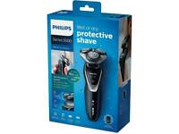 Philips Series 5000 Wet & Dry Men's Electric Beard Trimmer Cordless Shaver Turbo