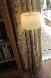 Chrome and glass floor lamp