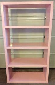 Large Open Shelf Unit - Baby Pink