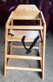child children baby high chair for pub restaurant bistro cafe dining