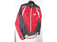 Mens Gore Red, Black and White Cycling Jacket. Size Medium