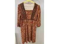 Rust & Burnt Orange Vintage Dress