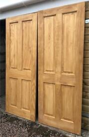 2 pine four panel internal doors