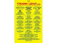 Leeds festival full weekend camping ticket