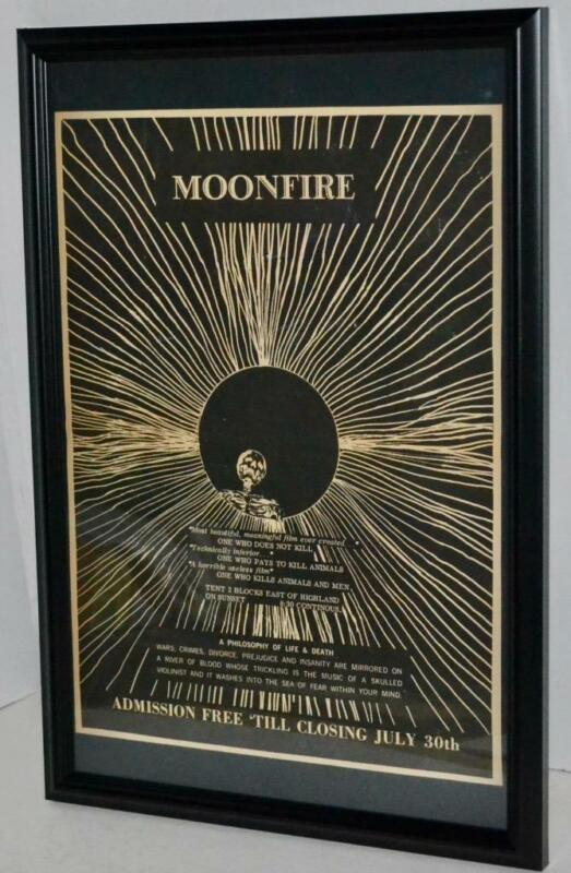LEWIS BEACH MARVIN III 1968 MOONFIRE DOCUMENTARY FILM RARE PROMOTION POSTER / AD