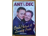 """Ant & Dec """" Ooh what a lovely pair """" Hard back book."""